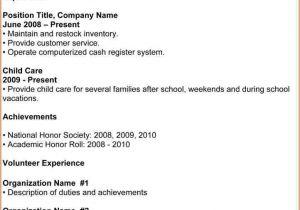 Basic Resume Template for High School Graduate 7 Basic High School Resume Template Budget Template Letter
