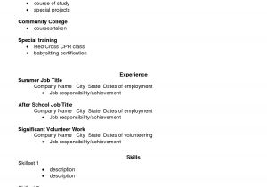 Basic Resume Template for High School Graduate Basic Resume Templates for High School Students Graduate