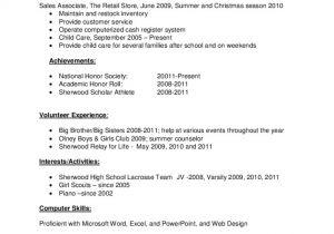 Basic Resume Template for High School Graduate Sample Resume for High School Graduate Free Download