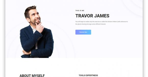 Basic Resume Website 17 Free Bootstrap HTML Resume Templates for Personal Cv