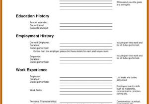 Basic Resume Website 9 10 Blank Basic Resume Templates Cvideas