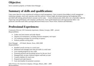 Basic Retail Resume Examples Basic Retail Store Manager Resume Template