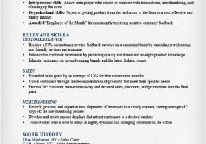 Basic Retail Resume Examples Retail Sales associate Resume Sample Writing Guide Rg