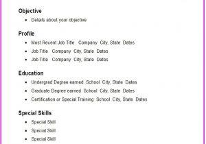 Basic Sample Resume Simple Resume Samples Template Resume Builder