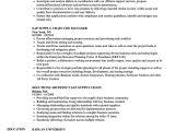 Basic Sap Knowledge Resume Sap Supply Chain Resume Samples Velvet Jobs