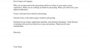 Basics Of A Cover Letter Basic Cover Letter for A Resume