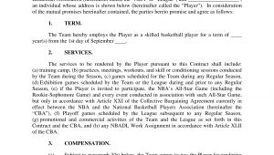 Basketball Player Contract Template 31 Contract Examples Samples Examples