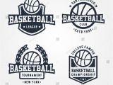 Basketball T Shirt Templates Collection Of Sport Basketball Badge Logo Templates T