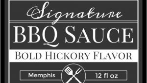 Bbq Sauce Label Template Signature Barbecue Sauce Label Label Templates Ol500
