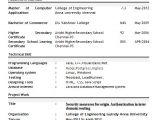 Bca Fresher Resume format Download Pdf Professional Resume for Freshers Rtr Resume format