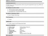 Bcom Fresher Resume format Download Image Result for Resume format for Bcom Freshers Sample