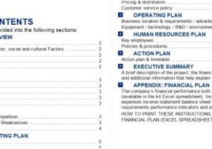 Bdc Business Plan Template 50 Best Free Business Plan Templates