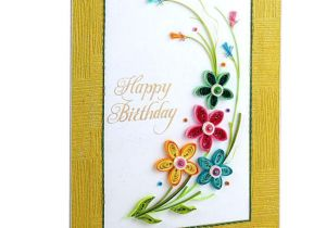 Beautiful and Easy Greeting Card Swapnil Arts Handmade 3d Paper Quilling Happy Birthday