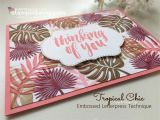 Beautiful and Simple Birthday Card Embossed Letterpress Tropical Chic Cards In Imaginative