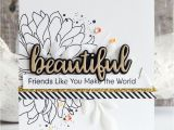 Beautiful and Simple Birthday Card Handmade Card From Inge Groot Featuring Beautiful Bloom Card