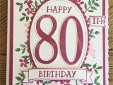 Beautiful and Simple Birthday Card Really Lovely Large Hand Finished Blue White 80th Card