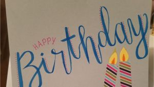 Beautiful Birthday Card for Sister Happy Birthday Card Sister Diy Birthday Handlettering