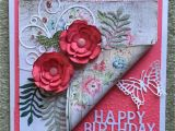 Beautiful Birthday Greeting Card Idea Pink Floral Birthday Card Handmade Birthday Cards