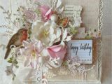 Beautiful Birthday Greeting Card Idea Shabby Chic Happy Birthday Card Vintage Karten