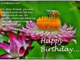 Beautiful Card for Best Friend Beautiful Flower and Bee Birthday Card for Best Friend