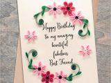 Beautiful Card for Best Friend Valentine Present Best Friend Birthday Card Girlfriend