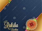 Beautiful Card for Raksha Bandhan Raksha Bandhan Greeting Card Design with Illustration