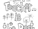 Beautiful Card for Your Teacher Teacher Appreciation Coloring Sheet with Images Teacher