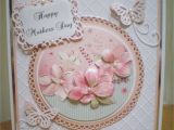 Beautiful Card Making On Mother S Day Mothers Day Card Using Hunkydory topper and Spellbinders
