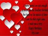 Beautiful Card Messages for Girlfriend Romantic Birthday Wishes for Lover Happy Birthday My Love