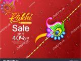 Beautiful Card On Raksha Bandhan Illustration Greeting Card Decorative Rakhi Raksha Stock