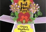 Beautiful Greeting Card On Mother S Day Amazon Com Mothers Day Card Handmade Card Flower Card