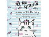 Beautiful Invitation Card for Kitty Party Boy Kitty Cat Birthday Party Invitation Zazzle Com with
