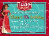 Beautiful Invitation Card for Kitty Party Elena Of Avalor Invitation Disney Princess Invitations