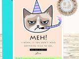 Beautiful Invitation Card for Kitty Party Printable Grumpy Cat Invitation Card Boyfriend Funny