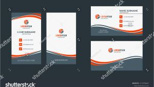 Beautiful Name Card Design Vector Double Sided Creative Business Card Template Portrait and