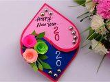 Beautiful New Year Card Making Beautiful Handmade Happy New Year 2020 Card Idea Diy