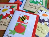 Beautiful New Year Card Making Easy Handmade New Year Cards for Kids Simple Cards Kaise