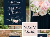 Beautiful Quotes to Include In A Wedding Card Navy and Blush Pink Wedding Signs Printable Poster Size