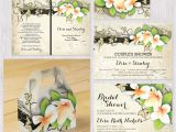 Beautiful Quotes to Include In A Wedding Card Vintage Plumeria or Frangipani and Ivy Custom Beige Wedding
