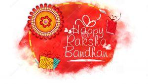 Beautiful Raksha Bandhan Greeting Card Greeting Card for Raksha Bandhan Celebration Stock
