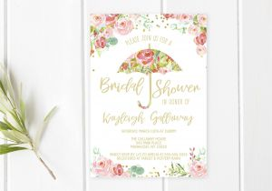 Beautiful Sayings to Write In A Wedding Card Bridal Shower Invitation Umbrella Bridal Shower Invite
