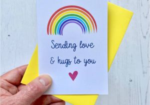 Beautiful Things to Write In A Card Sending Love and Hugs Rainbow Card