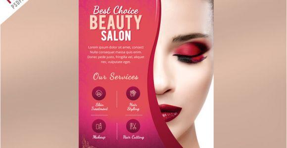 Beauty Salon Flyer Templates Psd Free Download Beauty Salon Flyer Template Psd Psdfreebies Com