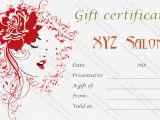 Beauty Salon Gift Certificate Template Free Artistic Salon Gift Certificate Template