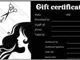 Beauty Salon Gift Certificate Template Free Spa Gift Certificate Templates