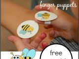 Bee Finger Puppet Template Here is the Beehive Rhyme for Kids with Finger Puppets