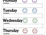 Behavior Charts for Preschoolers Template Printable Behavior Charts Bing Images for the Kids