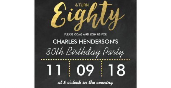 Belated Happy Birthday Card with Name Einladungskarte 80 Geburtstag