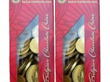 Belgium Professional Card Processing Time fort Knox Gold tone Foil Wrapped Belgian Milk Chocolate Coins 1 Pound
