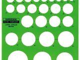 Berol Rapidesign Templates Berol Rapidesign Template Metric Large Circles R 2140 Ebay